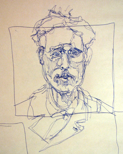 Contour Line Drawing Of A Person : Using modified and pure contour drawing to blast off your