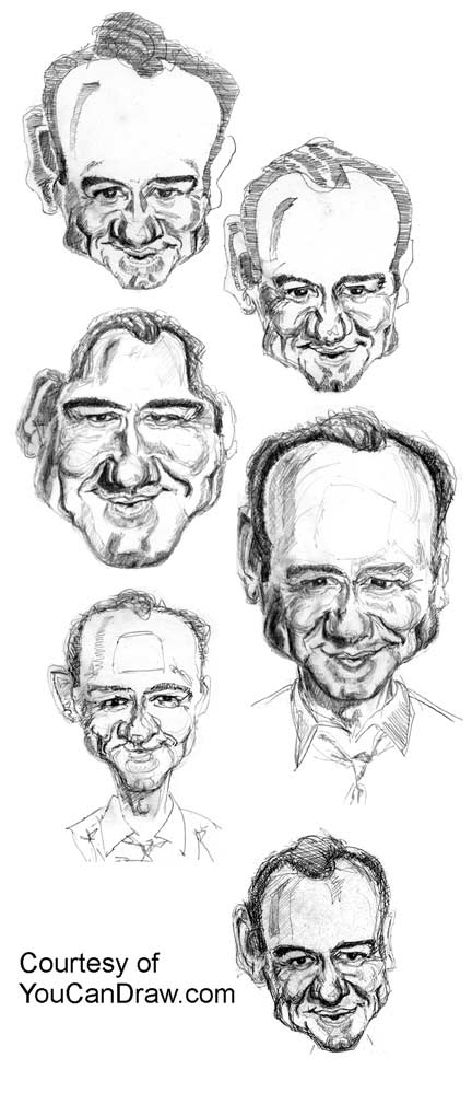 how draw celebrity caricatures pic 4 www drawing faces and caricatures ...